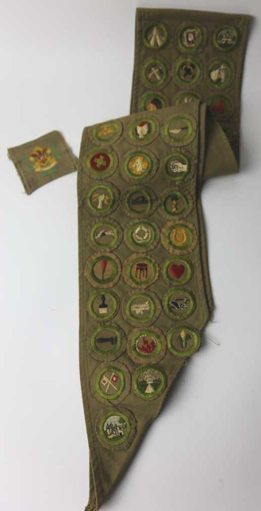 DR GAMBLE BOY SCOUT 1930'S MERIT BADGE SASH - 2