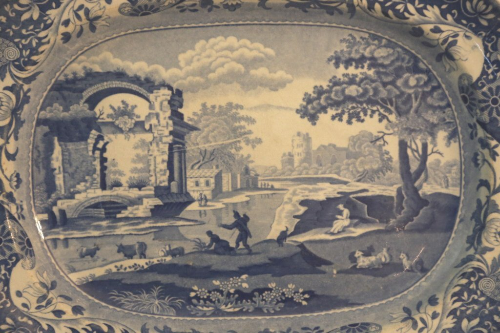 ENGLISH ANTIQUE PLATTER - 4