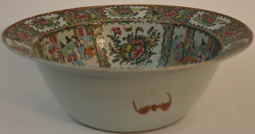 CHINESE ANTIQUE EXPORT PUNCH BOWL - 3