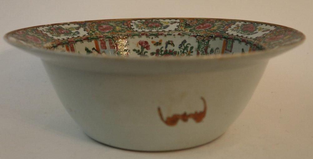 CHINESE ANTIQUE EXPORT PUNCH BOWL - 5