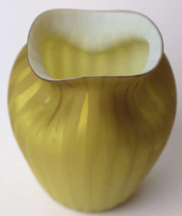 ANTIQUE SATIN GLASS VASE - 5
