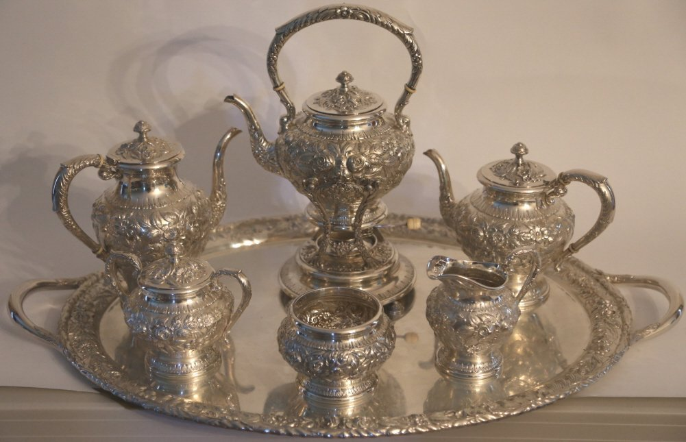 S. KIRK & SON BALTIMORE STERLING REPOUSSE SERVICE - 2