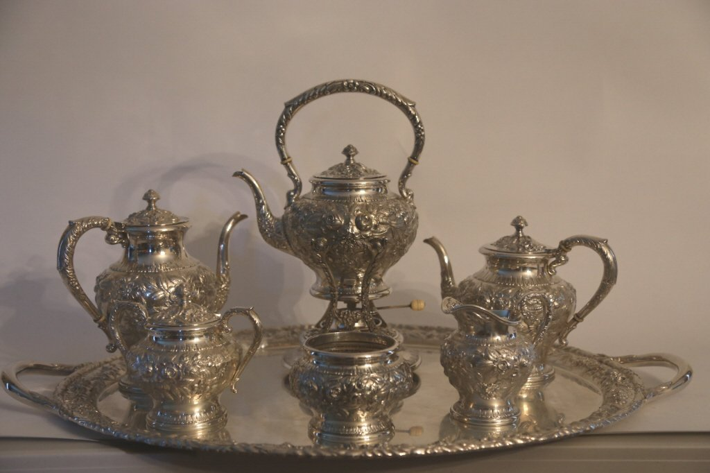 S. KIRK & SON BALTIMORE STERLING REPOUSSE SERVICE - 6