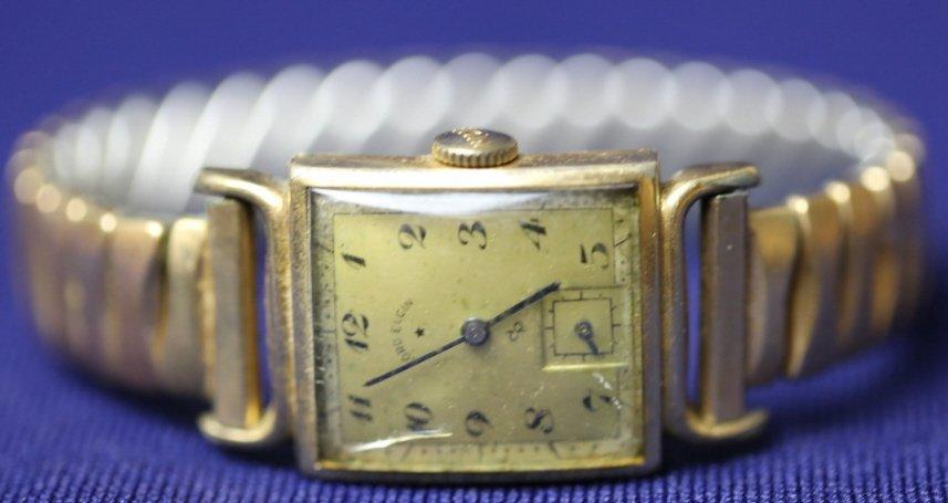 ANTIQUE ELGIN MENS GOLD WATCH - 3
