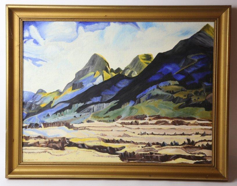 WILLIAM F. JOHNSON (AMERICAN) 1947 LANDSCAPE