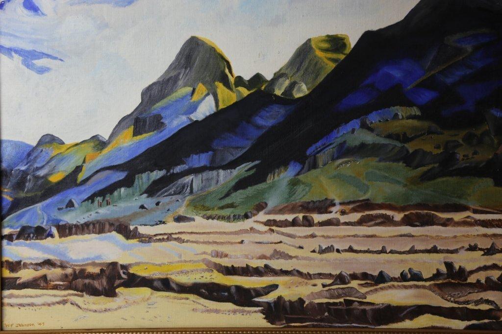 WILLIAM F. JOHNSON (AMERICAN) 1947 LANDSCAPE - 2