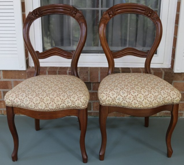 ANTIQUE VICTORIAN WALNUT PARLOR CHAIRS