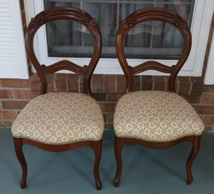 ANTIQUE VICTORIAN WALNUT PARLOR CHAIRS - 2