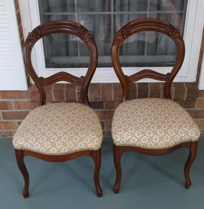 ANTIQUE VICTORIAN WALNUT PARLOR CHAIRS - 3