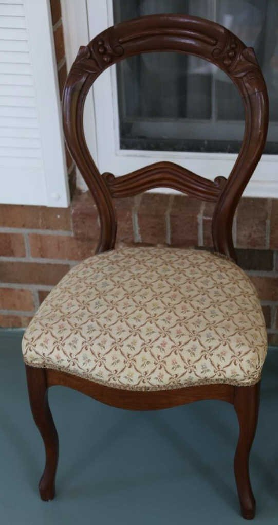 ANTIQUE VICTORIAN WALNUT PARLOR CHAIRS - 5