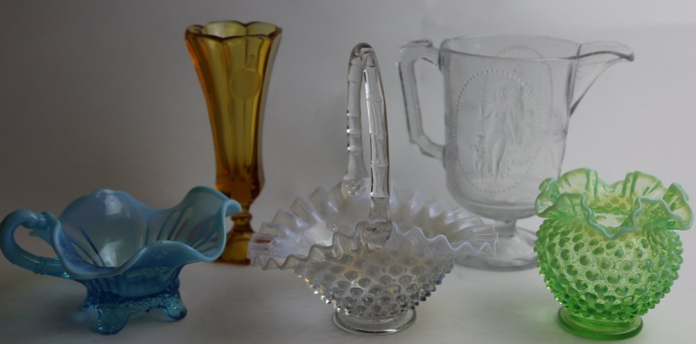 ANTIQUE GLASS GROUPING