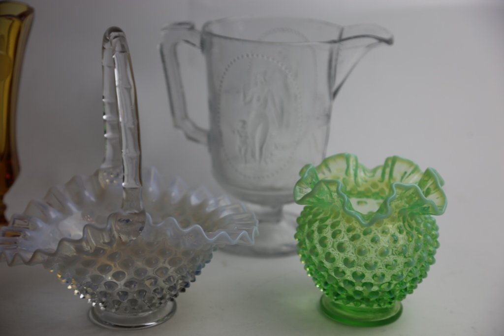 ANTIQUE GLASS GROUPING - 2