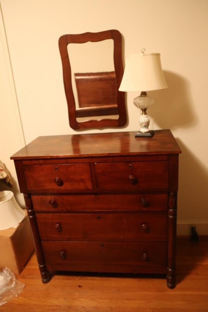 SOUTHERN WALNUT ANTIQUE MIROR - 2
