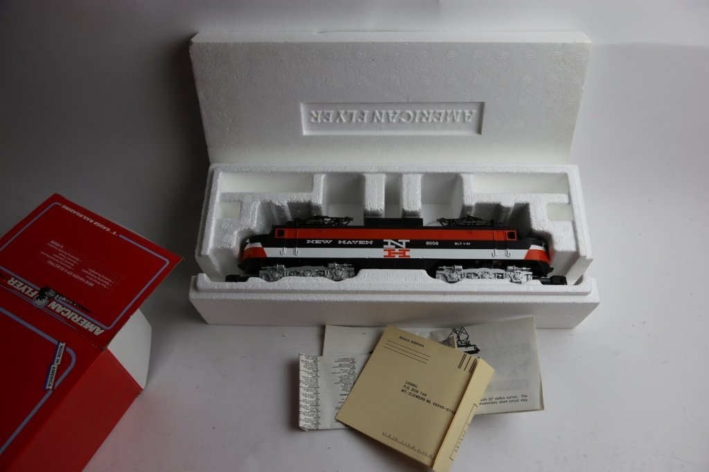 AMERICAN FLYER NEW HAVEN 8008 POWER LINE ENGINE - 2