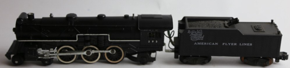 AMERICAN FLYER ANTIQUE STEAM ENGINE 293 & TENDER