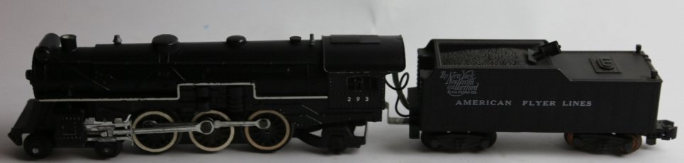AMERICAN FLYER ANTIQUE STEAM ENGINE 293 & TENDER - 2