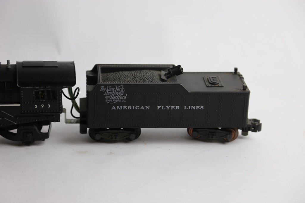 AMERICAN FLYER ANTIQUE STEAM ENGINE 293 & TENDER - 3