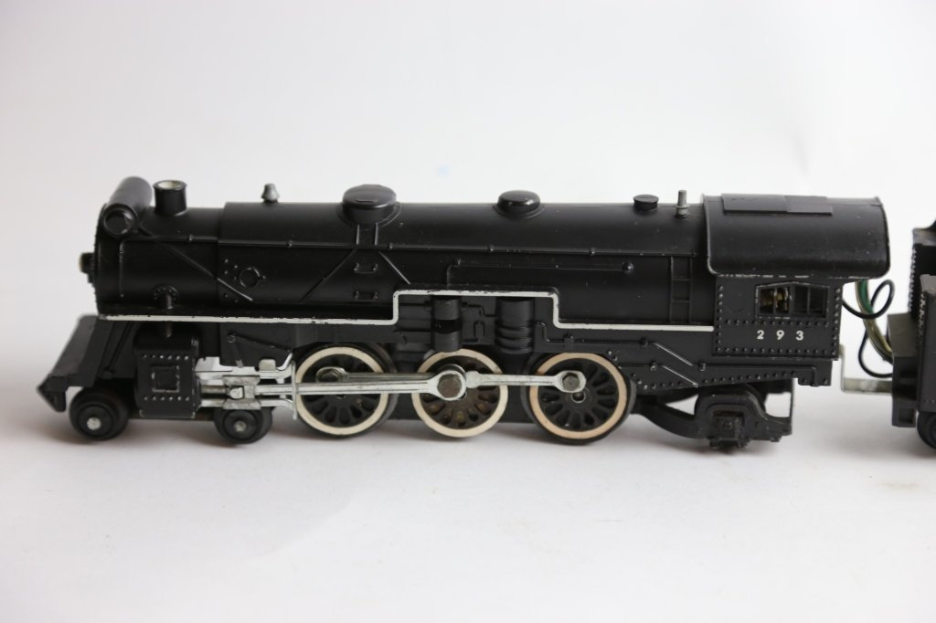AMERICAN FLYER ANTIQUE STEAM ENGINE 293 & TENDER - 4