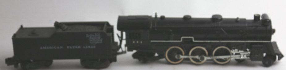 AMERICAN FLYER ANTIQUE STEAM ENGINE 293 & TENDER - 6