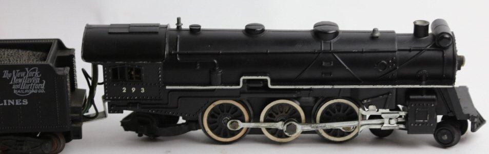AMERICAN FLYER ANTIQUE STEAM ENGINE 293 & TENDER - 7