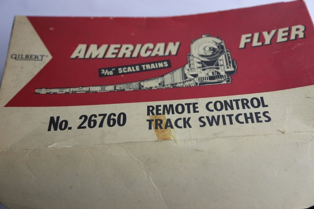 AMERICAN FLYER VINTAGE TRACK SWITCH GROUPING - 3