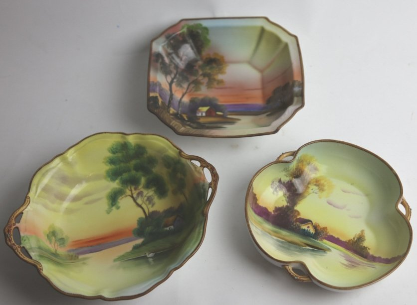 NIPPON HAND PAINTED BOWL GROUPING - 2