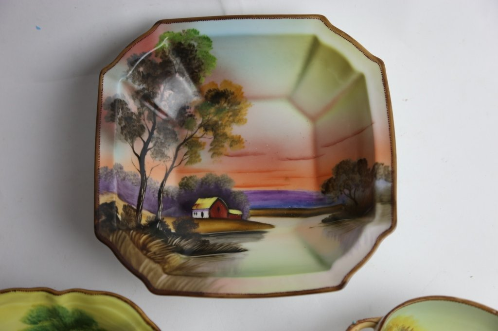 NIPPON HAND PAINTED BOWL GROUPING - 3