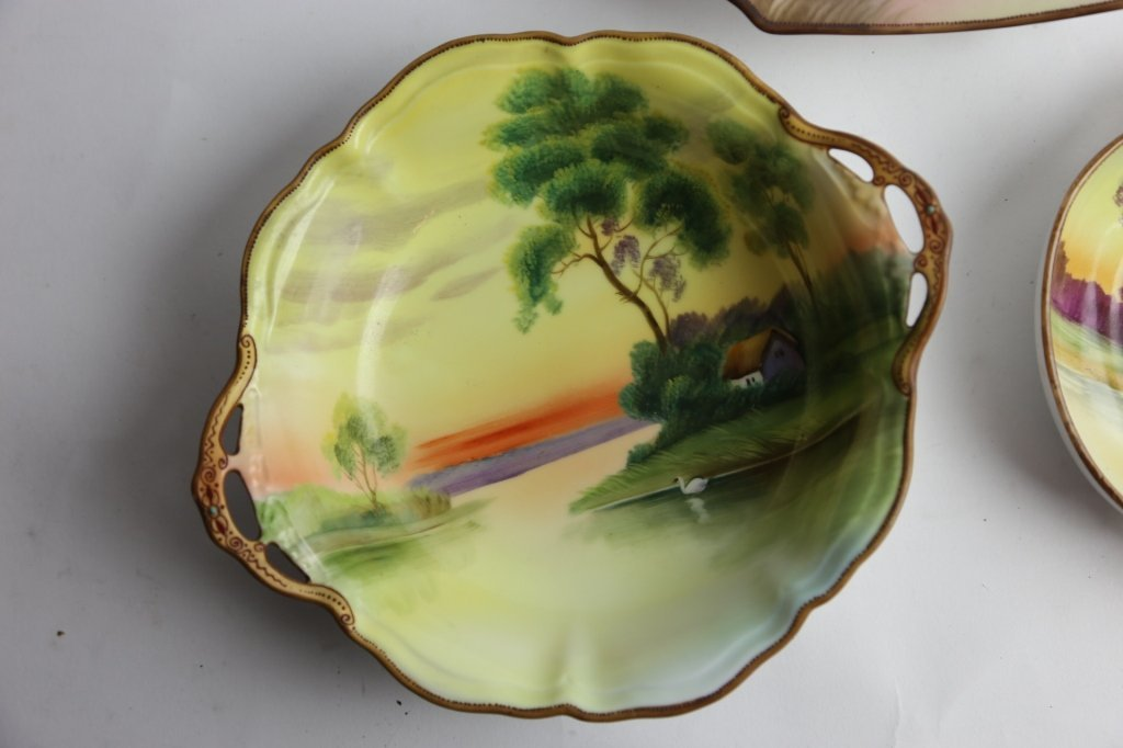 NIPPON HAND PAINTED BOWL GROUPING - 5