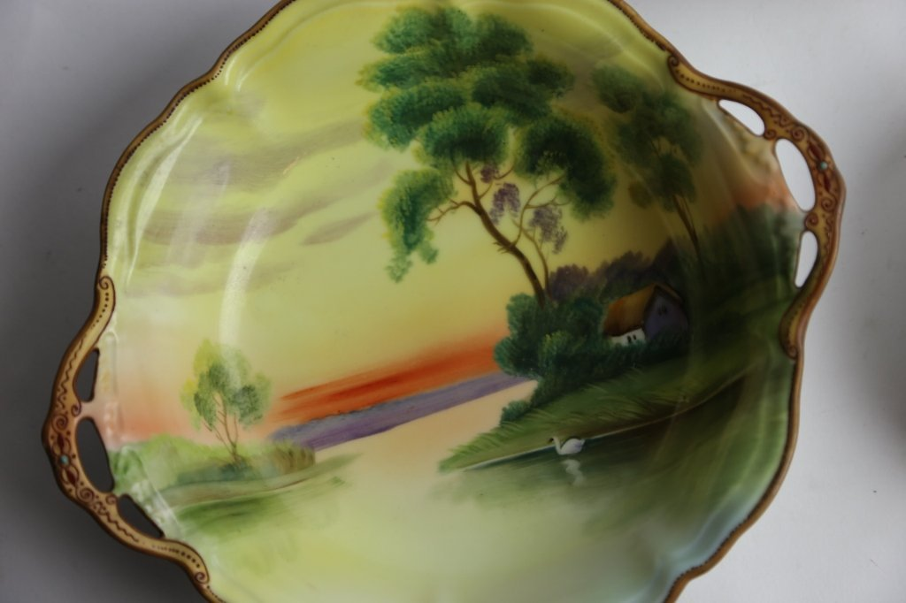 NIPPON HAND PAINTED BOWL GROUPING - 6