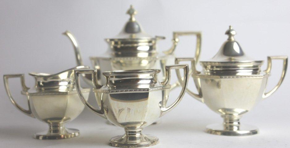 SILVER PLATE TEA SERVICE - 2