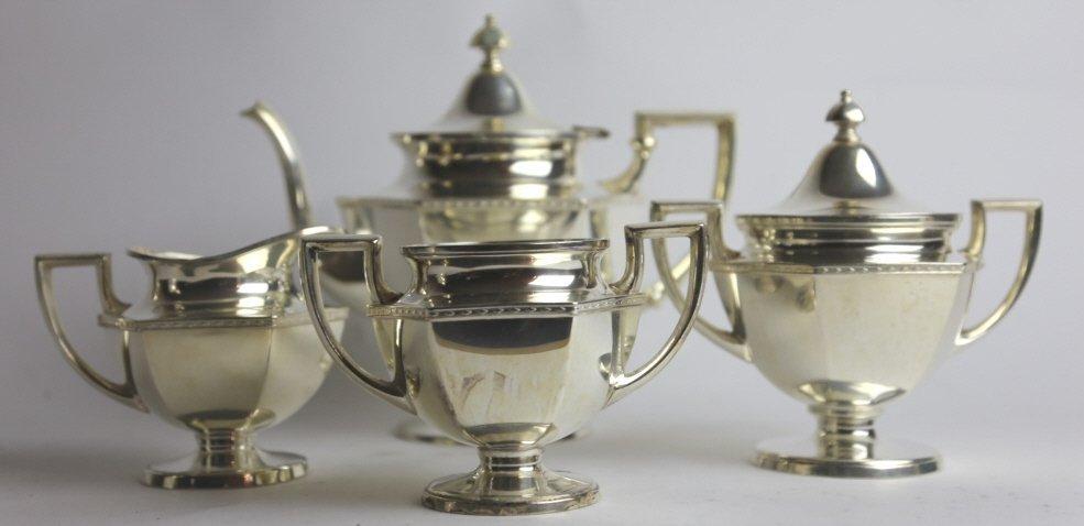 SILVER PLATE TEA SERVICE - 3