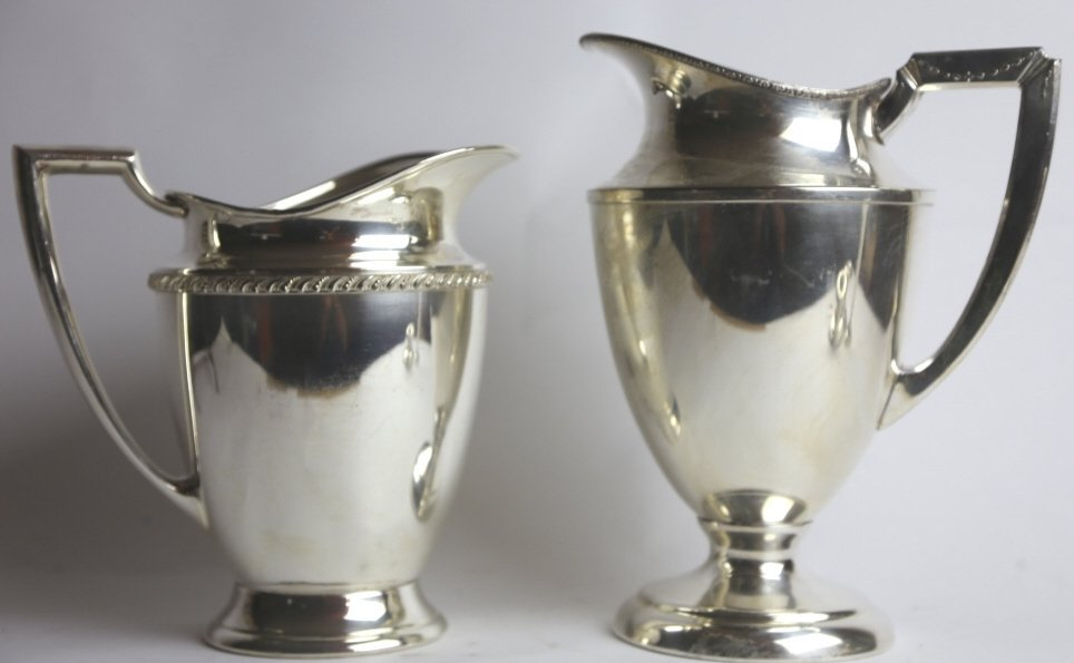 2 SILVERPLATE PITCHER GROUPING