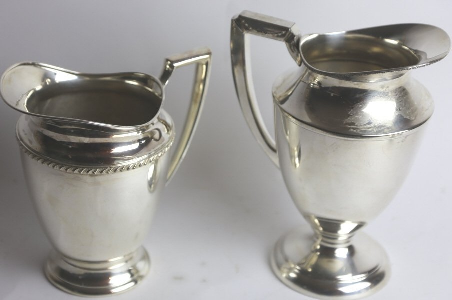 2 SILVERPLATE PITCHER GROUPING - 4