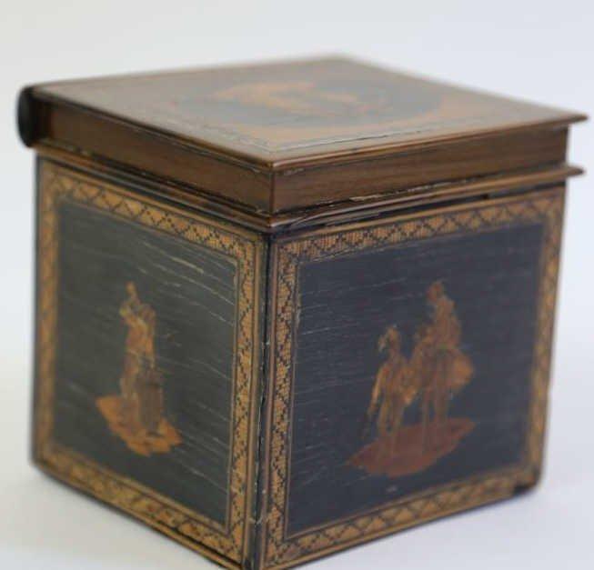 ENGLISH ANTIQUE INLAID PUZZLE BOX