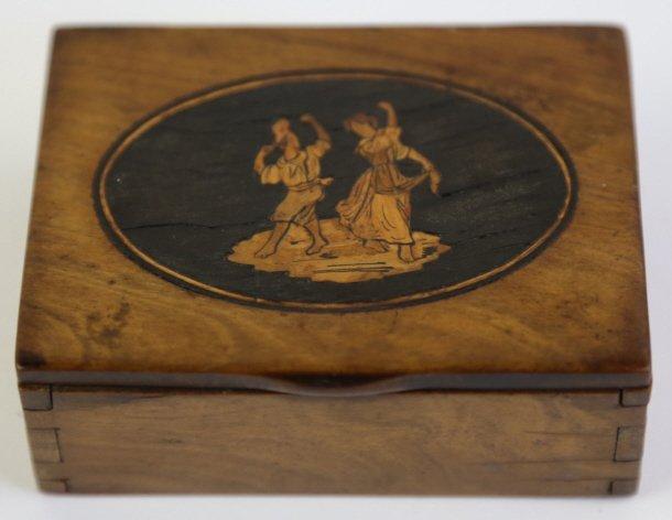 19TH C. SORRENTO OLIVE WOOD INLAID BOX
