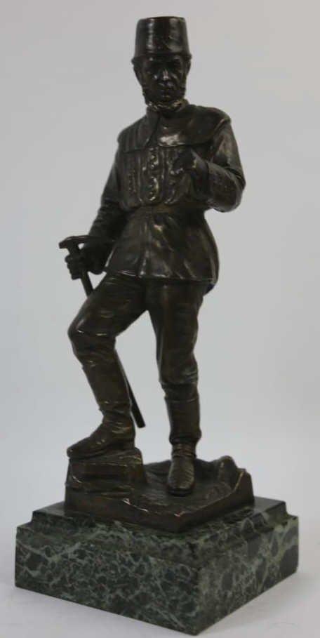 FRIEDRICH REUSCH(GERMAN 1843-1906) BRONZE