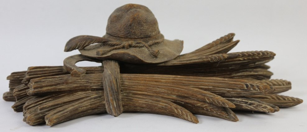 LUZERN BLACK FOREST ANTIQUE INKWELL & PEN HOLDER