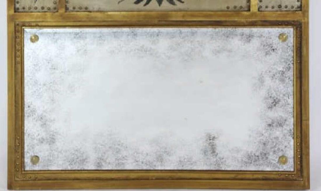 ANTIQUE FRENCH TRUMEAU MIRROR - 3