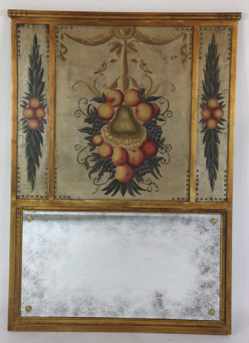 ANTIQUE FRENCH TRUMEAU MIRROR - 4