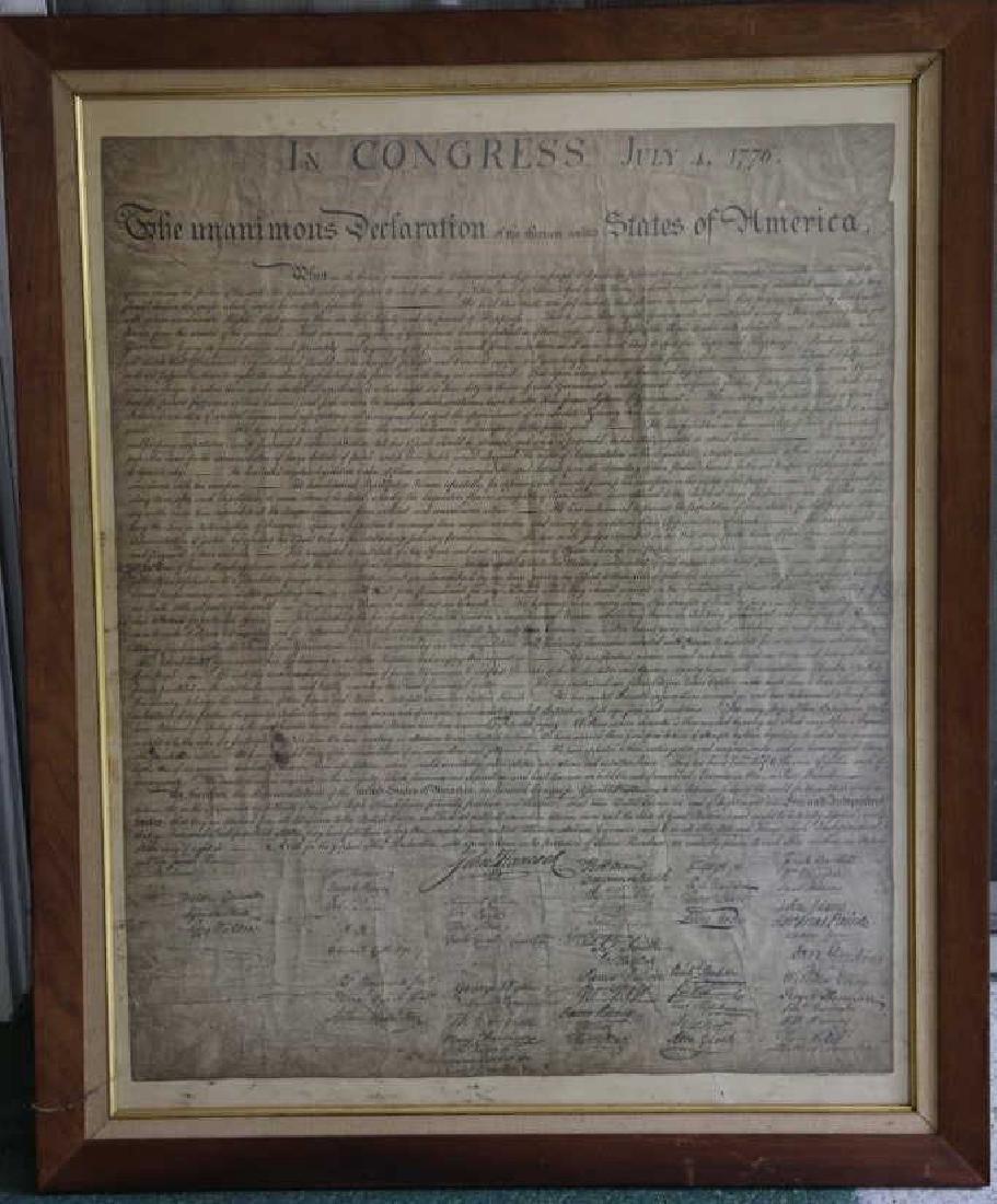 US ANTIQUE DECLARATION OF INDEPENDENCE