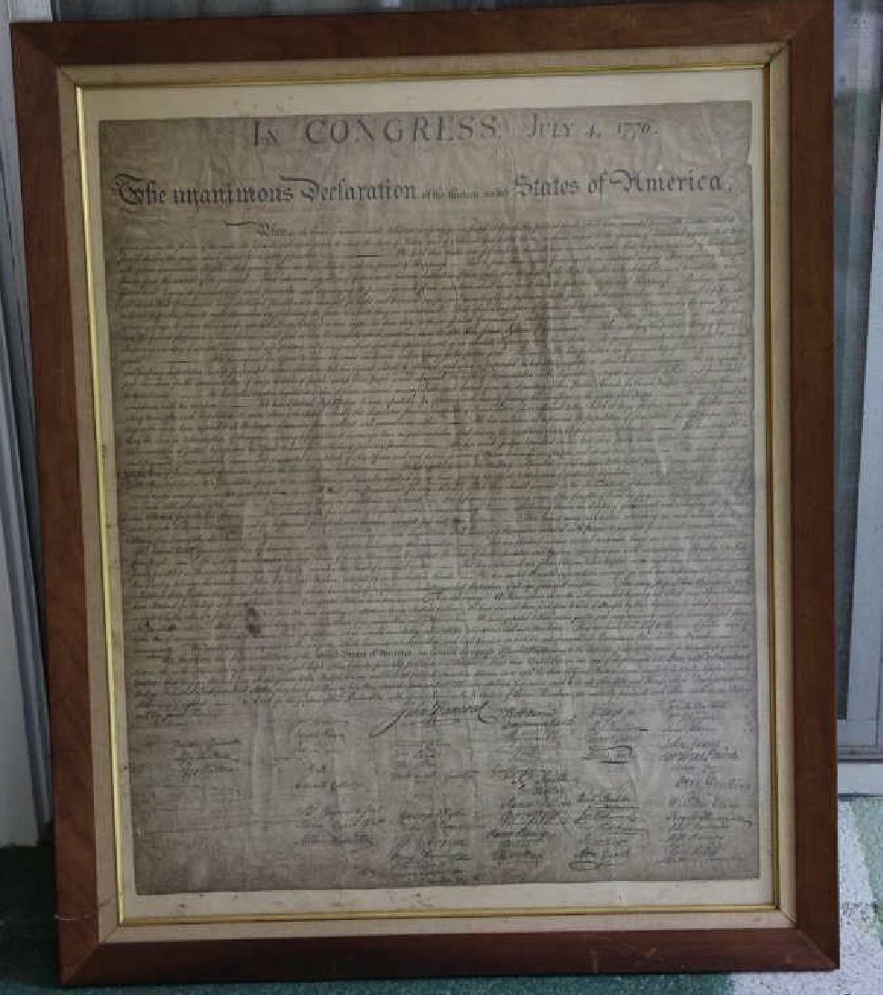 US ANTIQUE DECLARATION OF INDEPENDENCE - 2