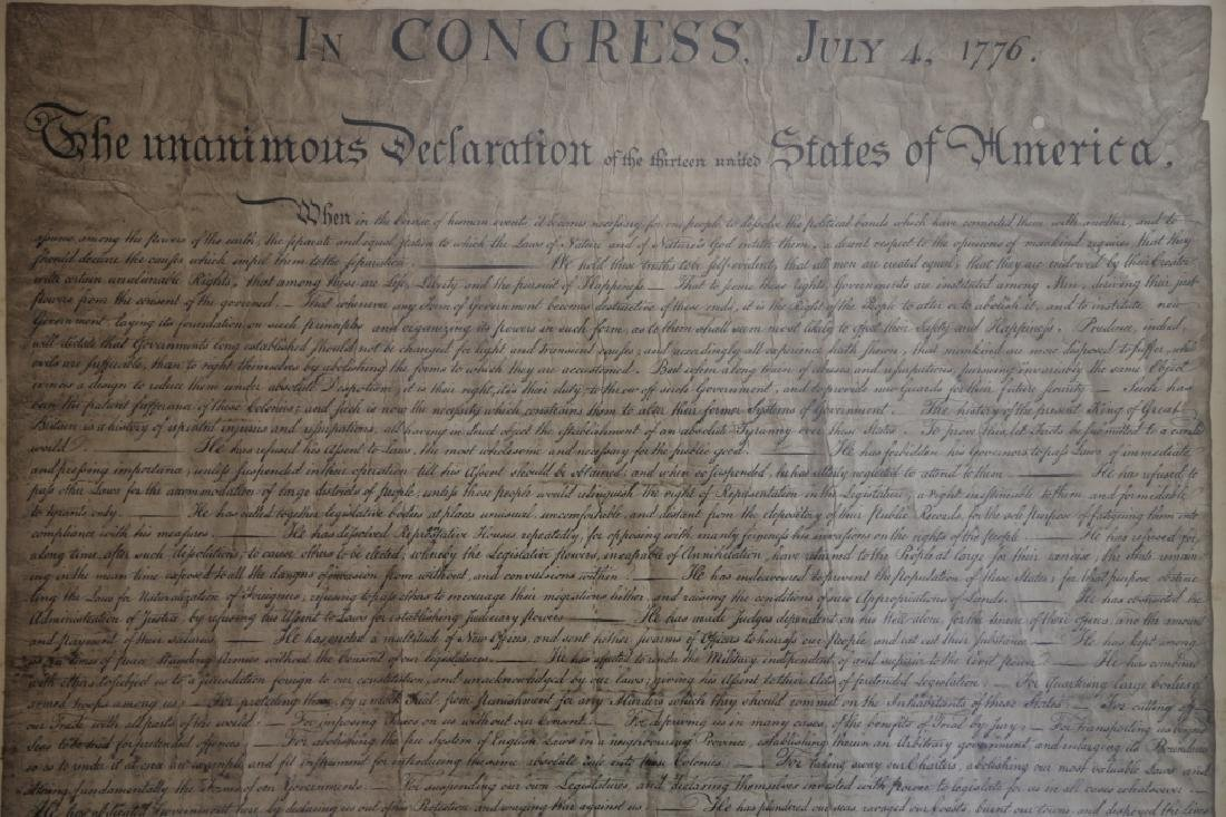 US ANTIQUE DECLARATION OF INDEPENDENCE - 4