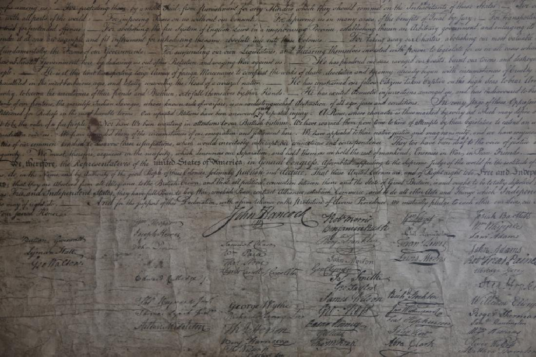 US ANTIQUE DECLARATION OF INDEPENDENCE - 5