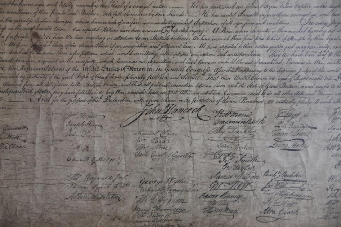 US ANTIQUE DECLARATION OF INDEPENDENCE - 7