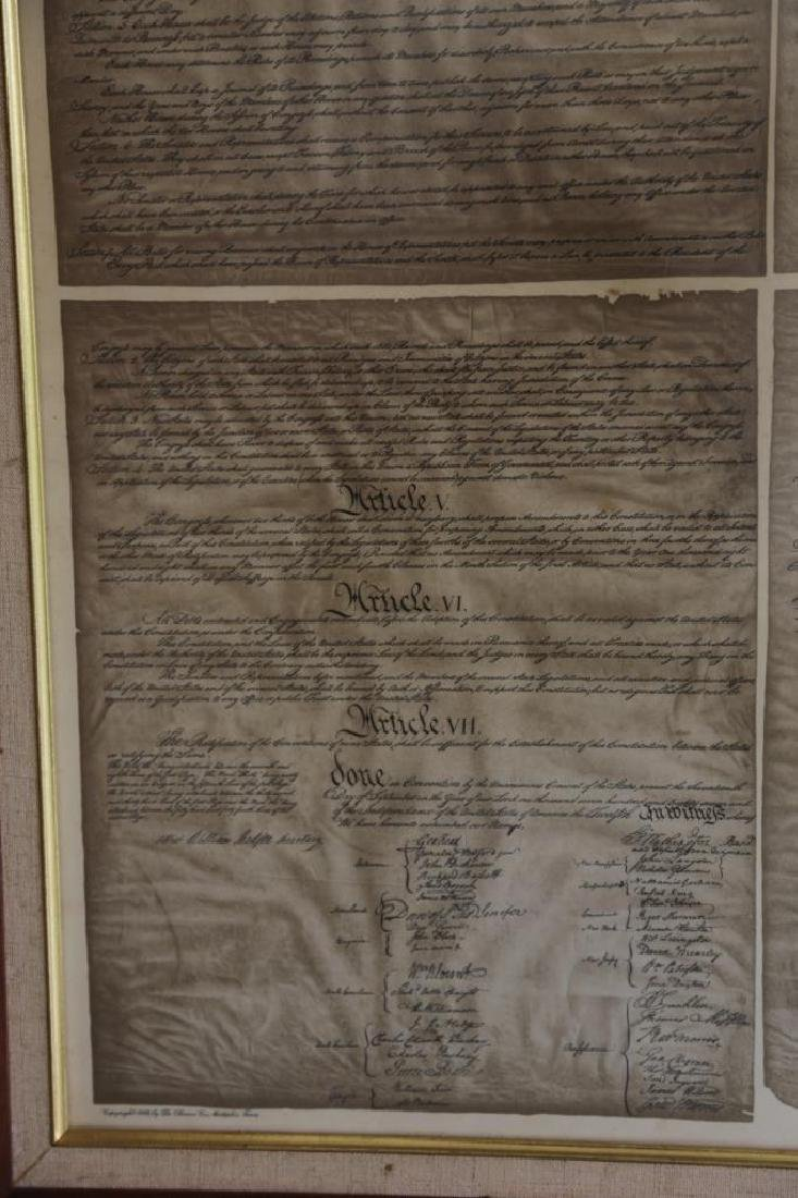 NC STATESMAN'S US FRAMED ANTIQUE CONSTITUTION - 10