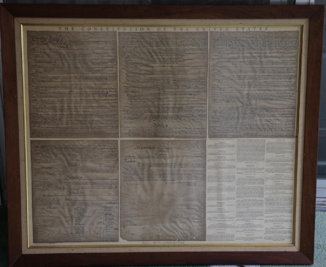 NC STATESMAN'S US FRAMED ANTIQUE CONSTITUTION - 2