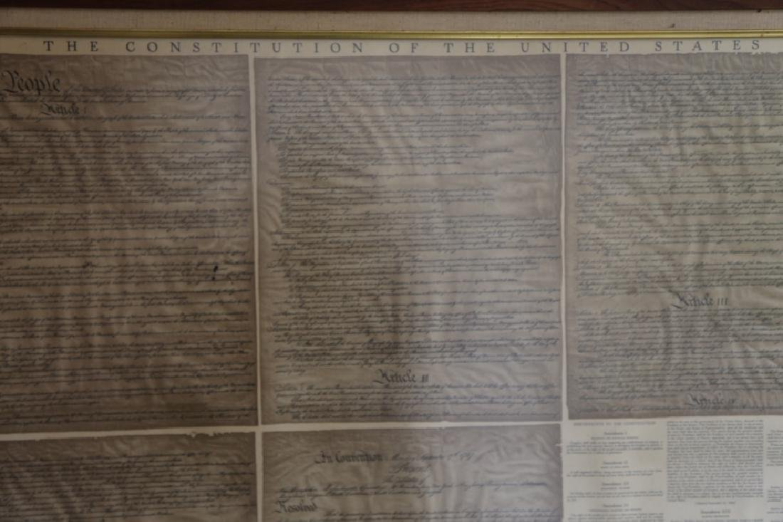 NC STATESMAN'S US FRAMED ANTIQUE CONSTITUTION - 4