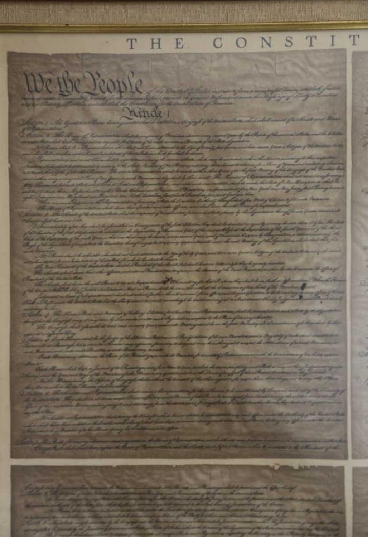 NC STATESMAN'S US FRAMED ANTIQUE CONSTITUTION - 5