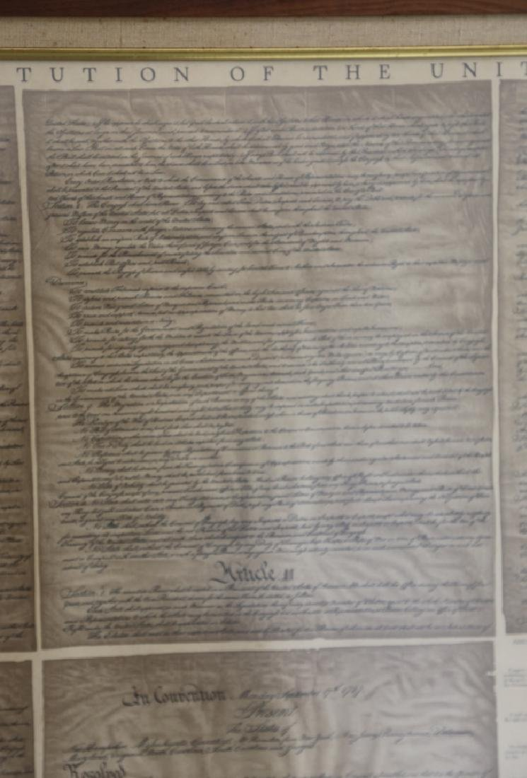 NC STATESMAN'S US FRAMED ANTIQUE CONSTITUTION - 6