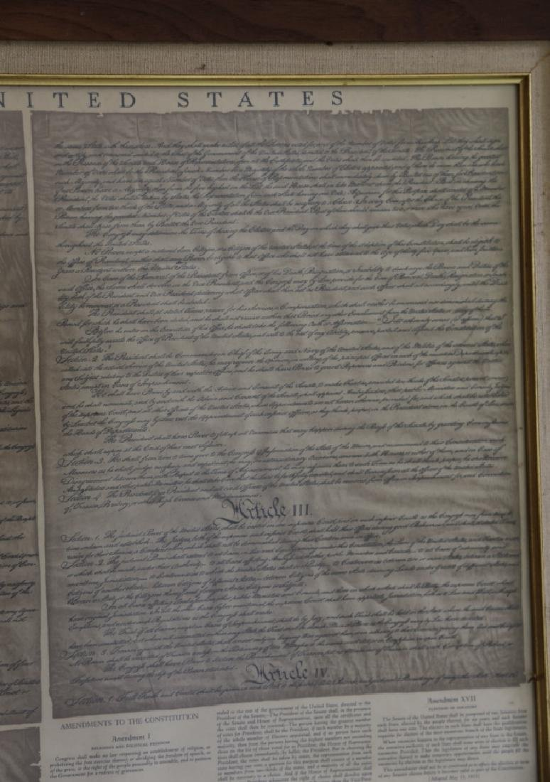 NC STATESMAN'S US FRAMED ANTIQUE CONSTITUTION - 7